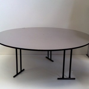 1.8m Round Laminated Top 10 Seater