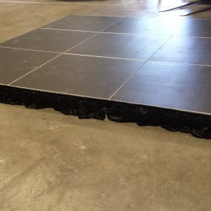 3m x 3m Stage Made Up Of 1m Square Sections
