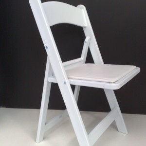 American White Folding Chair