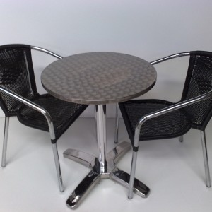 Black Rattan Chairs With Chrome Frame