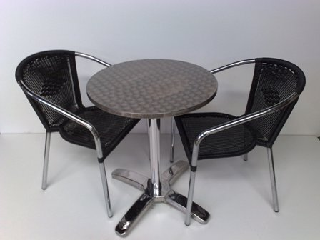 Black Rattan Chairs With Chrome Frame 3.1 Resized
