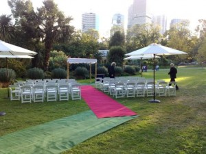 Wedding in Fitzroy Gardens